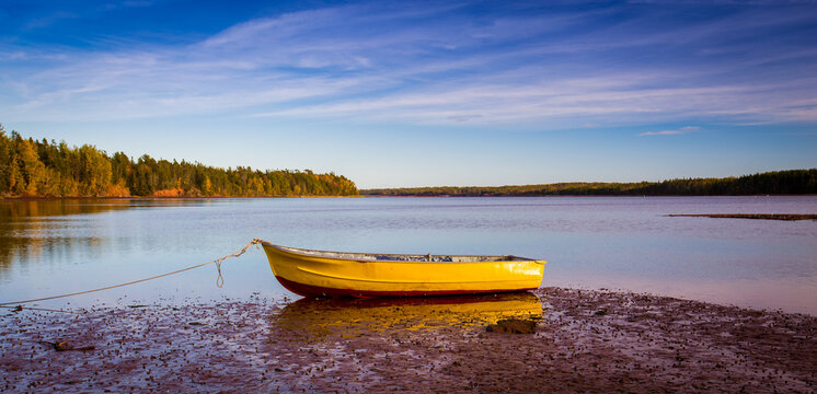 wooden dory in Prince Edward Island