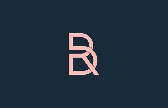 monogram connected alphabet letter BR, RB, PRB, PBR, DBR, RBD logo design
