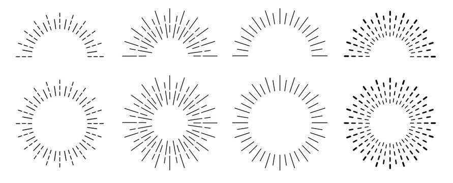 Sunburst set. Sunburst icon collection vector.Retro sunburst design.Big collection sunburst best quality. Burs.Sunrise rays light burst line shine sunshine sunbeam .Vector illustration.