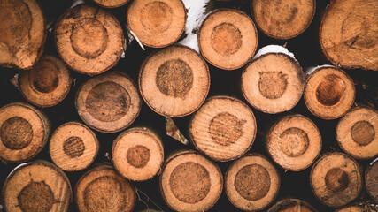 Fototapeta Baliki drewna stanowiące naturalne tło obraz