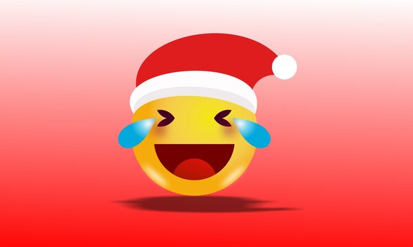Ilustration vector graphic of christmas & new year emoticons