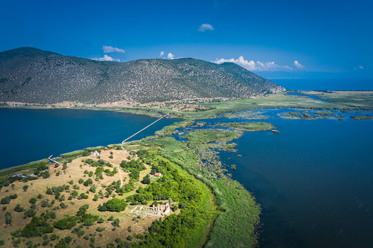 Agios Achillios aerial view, Florina