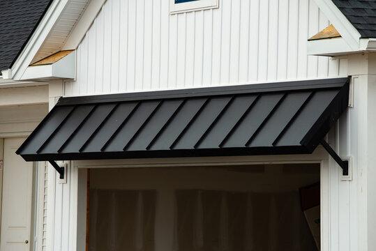 black awning door
