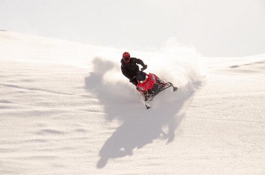 Sledding in Hatchers Pass, Alaska