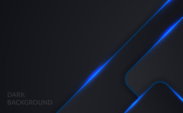 Dark steel like background with highlight blue neon lamp effect for tech or gaming