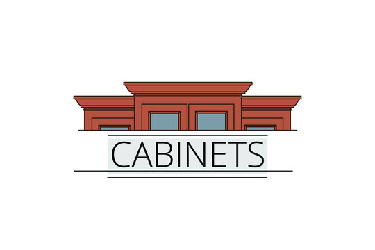 Vector illustration of Cabinets business concept