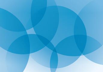青色の重なる円のグラデーションの抽象背景素材