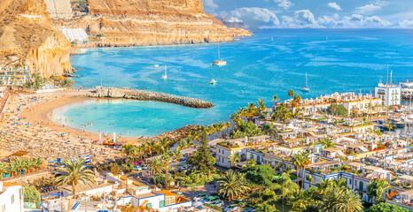 Wall Mural - Landscape with Puerto de Mogan, Gran Canaria island, Spain