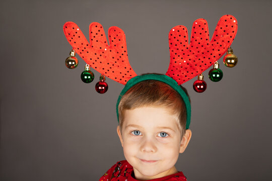 Little boy on Christmas time