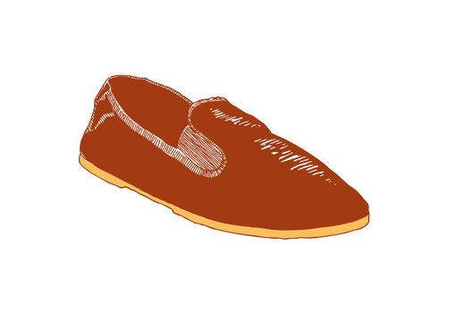 Two-color illustration of a Chinese martial arts shoe