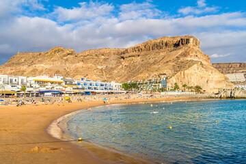Wall Mural - Landscape with Playa Mogan and Puerto de Mogan village, Gran Canaria, Canary islands, Spain