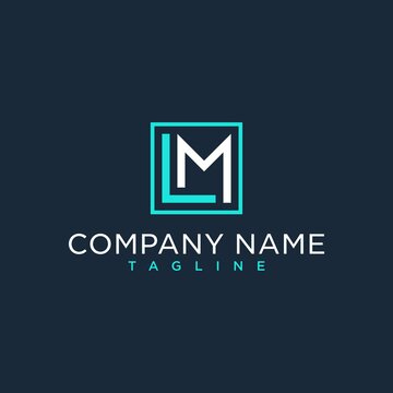 LM,ML,initial logo design inspiration