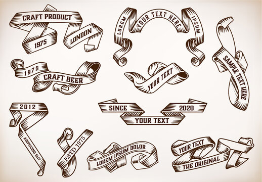 Set of Vintage Ribbons