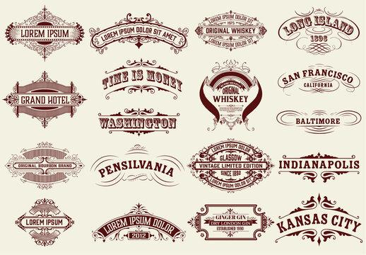 Set of 18 Vintage Logos and Badges