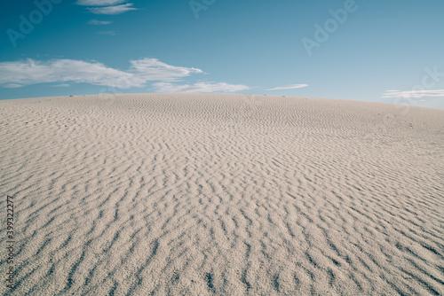 Sandy dunes in White Sands National Park