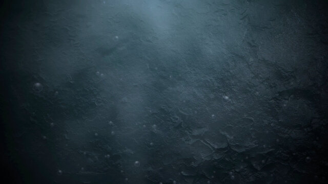 Motion and fly particles on cinematic background with grunge texture