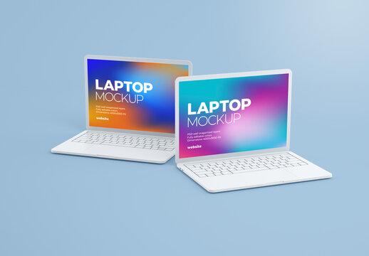Clay Laptop Mockup