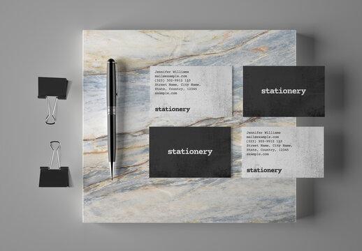 Business Card Stationery Branding Mockup