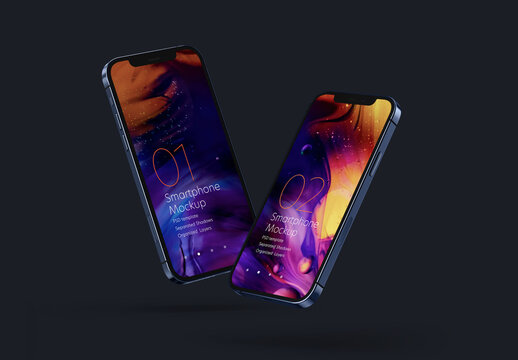 Dark Realistic Smartphone Mockup