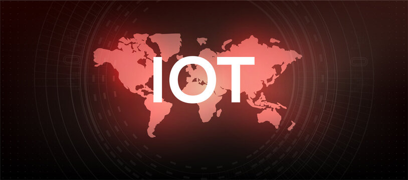 Internet of things (IoT) and networking concept for connected devices. Digital Network Connections, The concept of connecting devices using IOT technology. ICT (Information Communication Technology)