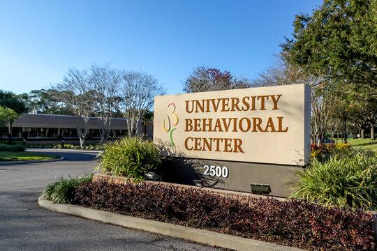 Orlando, Florida, USA - February 8, 2020: University Behavioral Center in Orlando, Florida, USA. University Behavioral Center provides mental health and substance abuse treatment.