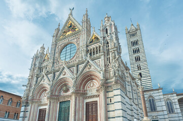 Fototapete - Church Cattedrale di Siena in historical city Siena, Tuscany, Italy