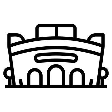 Stadium pictograph in line design.