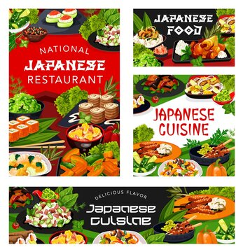 Japanese cuisine rice, fish, meat, vegetable dish
