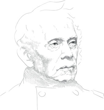 """Sylvanus Thayer - American military leader, colonel, temporarily promoted to brigadier general. Known as """"Father of West Point"""""""