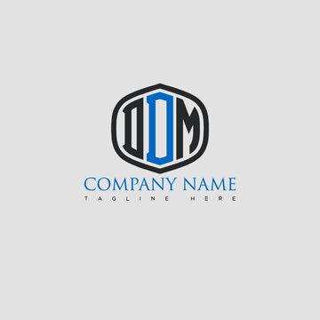 DDM Letter Logo Design and Monogram Icon.