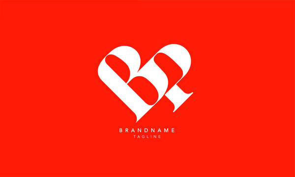 Alphabet letters Initials Monogram logo BP, PB, B and P