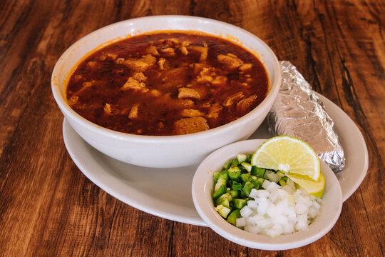 Mexican soup menudo