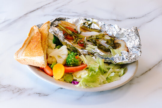Mexican food fish in foil
