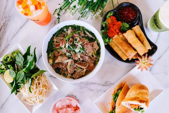 Vietnamese food background