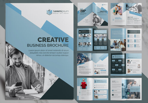 Corporate Business Brochure in Light Blue Layout