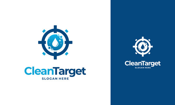 Cleaning Target logo designs concept vector, Cleaning Service logo designs, Clean spot logo