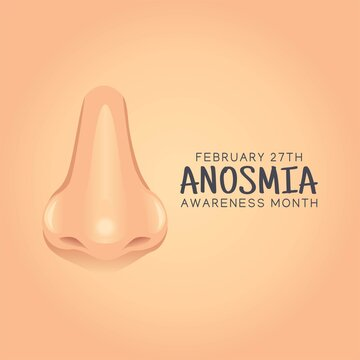 Anosmia Awareness Month Vector Illustration. Suitable for greeting card poster and banner.