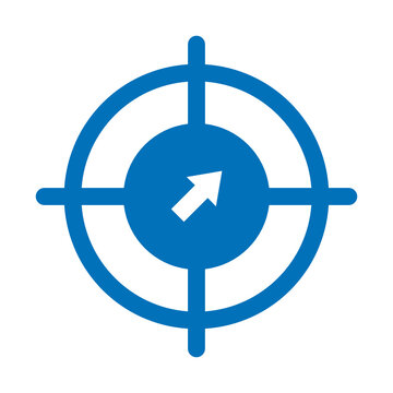 Behavioral targeting, crosshair Vector Icon which can easily modify