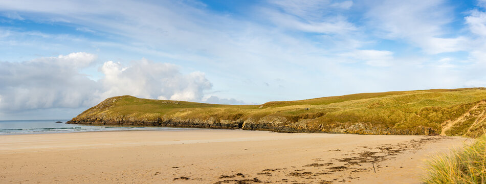 Northerly Headland Tramore Beach Panorama County Donegal Ireland