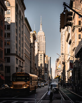 New York City with Empire State Building
