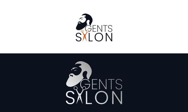Gents Salon Logo Design Template