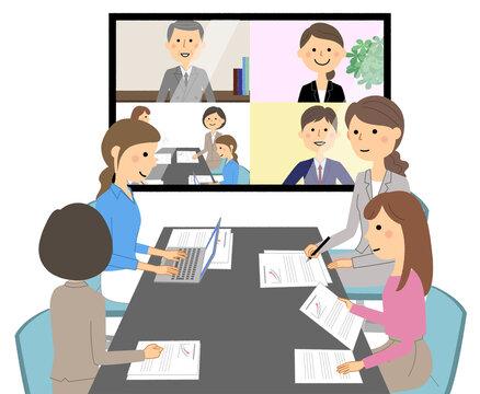 ビジネスシーン リモート会議