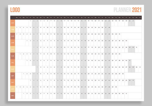 2021 Annual Year Planner Layout