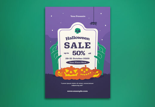 Halloween Sale Flyer Layout