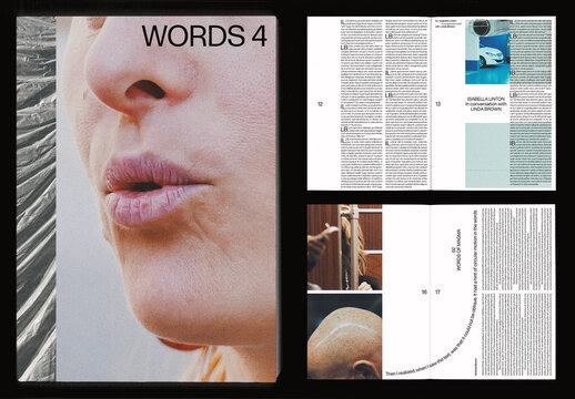Organic Experimental Portrait Magazine Book Layout