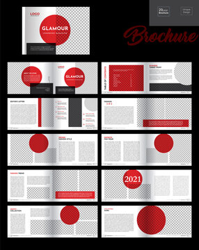 Fashion Magazine Template design, vector
