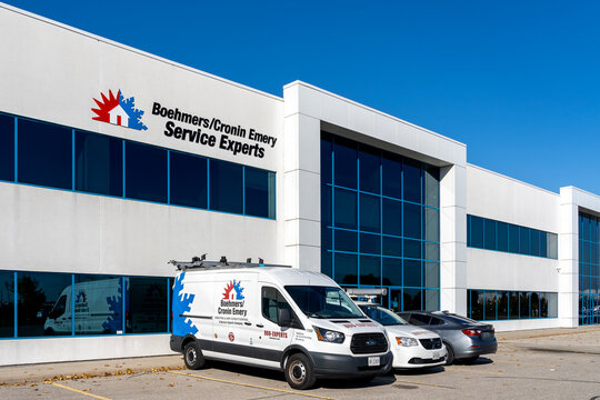 Cambridge, On, Canada - October 17, 2020: Boehmers/Cronin Emery Service Experts office in  Cambridge, Ontario, Canada,  Heating & Air Conditioning contractor.