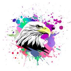 american eagle with splash