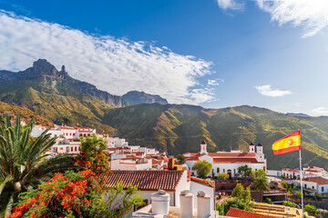 Wall Mural - Landscape with Tejeda Village on Gran Canaria, Canary Islands, Spain