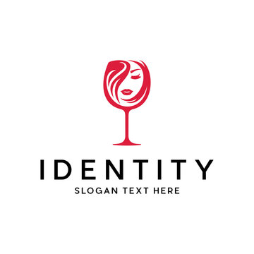 Wine Beauty Face Menu Bar Modern Business Logo